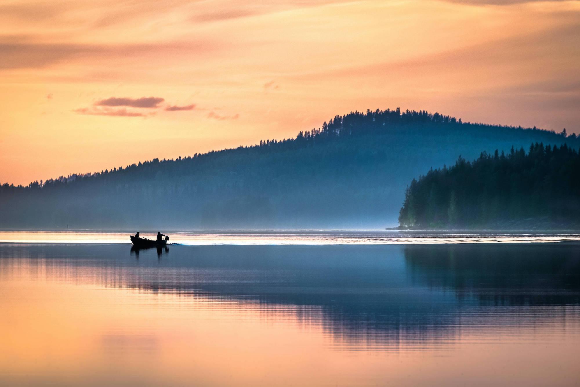 Mitternachtssonne in Finnland