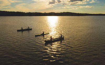 Geführte Kajaktour auf dem See Vesijärvi