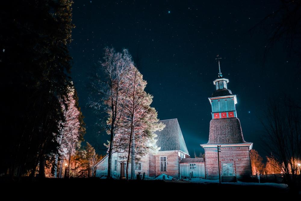 Alten Kirche von Petäjävesi