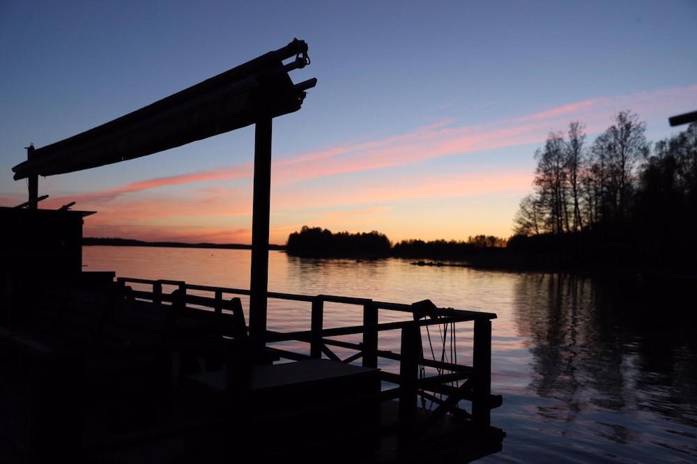 Hof Iloranta Sonnenuntergang